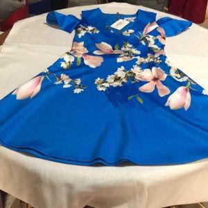 NWT Ted Baker cold shoulder dress
